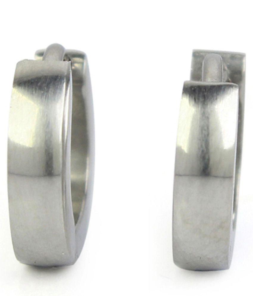 Diva Platinum Plated Hoop Earrings