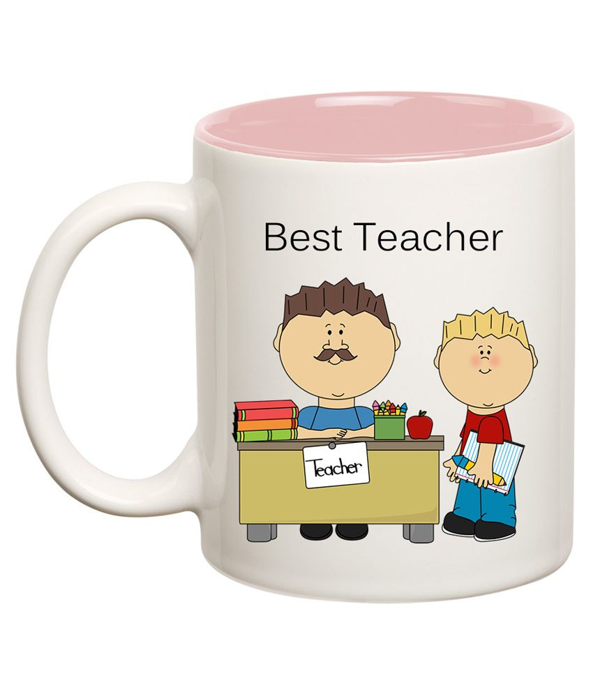 Huppme Best Teacher Inner Pink Mug