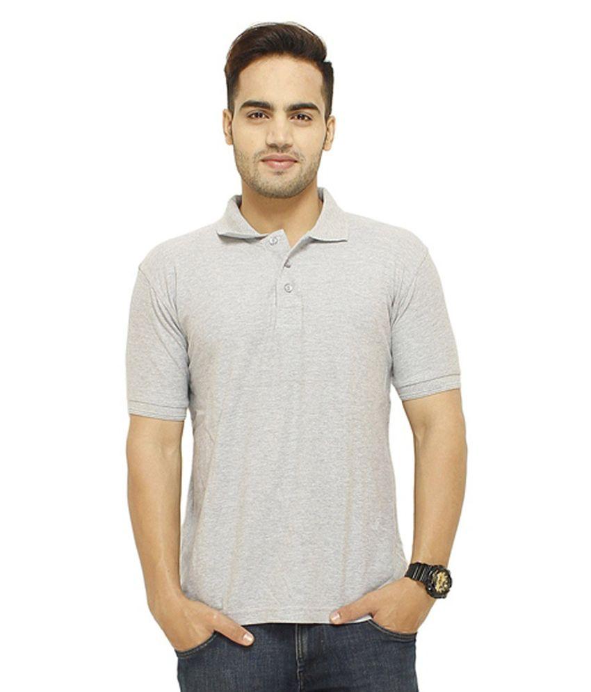Rfam Grey Cotton Blend T-Shirt