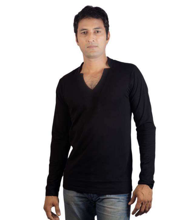 Vagga Black Cotton T-shirt
