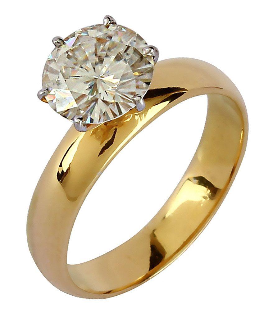 Diamos 14kt Gold Moissanite Ring