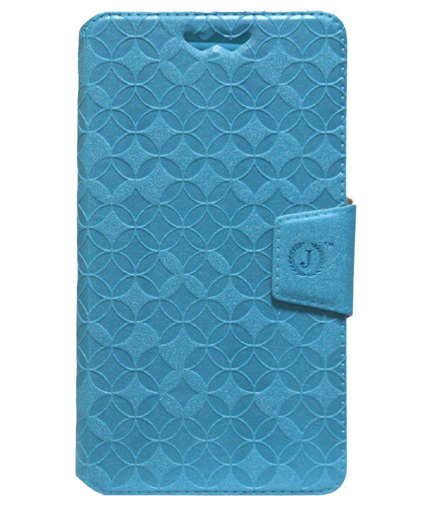 Jo Jo Flip Cover With Silicon Holder For Karbonn Titanium Octane-Blue