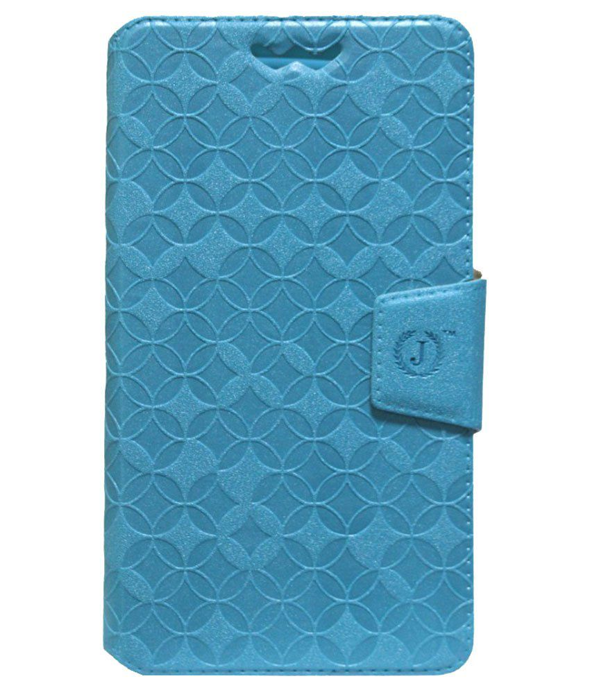 Jo Jo Flip Cover With Silicon Holder For Micromax Canvas Power-Blue