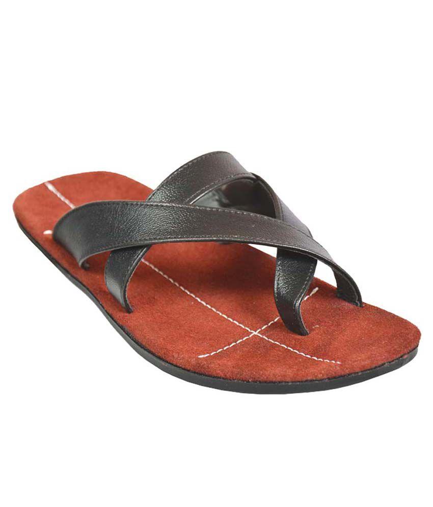 4647194c16eb Mr. Polo Black Slippers Price in India- Buy Mr. Polo Black Slippers Online  at Snapdeal