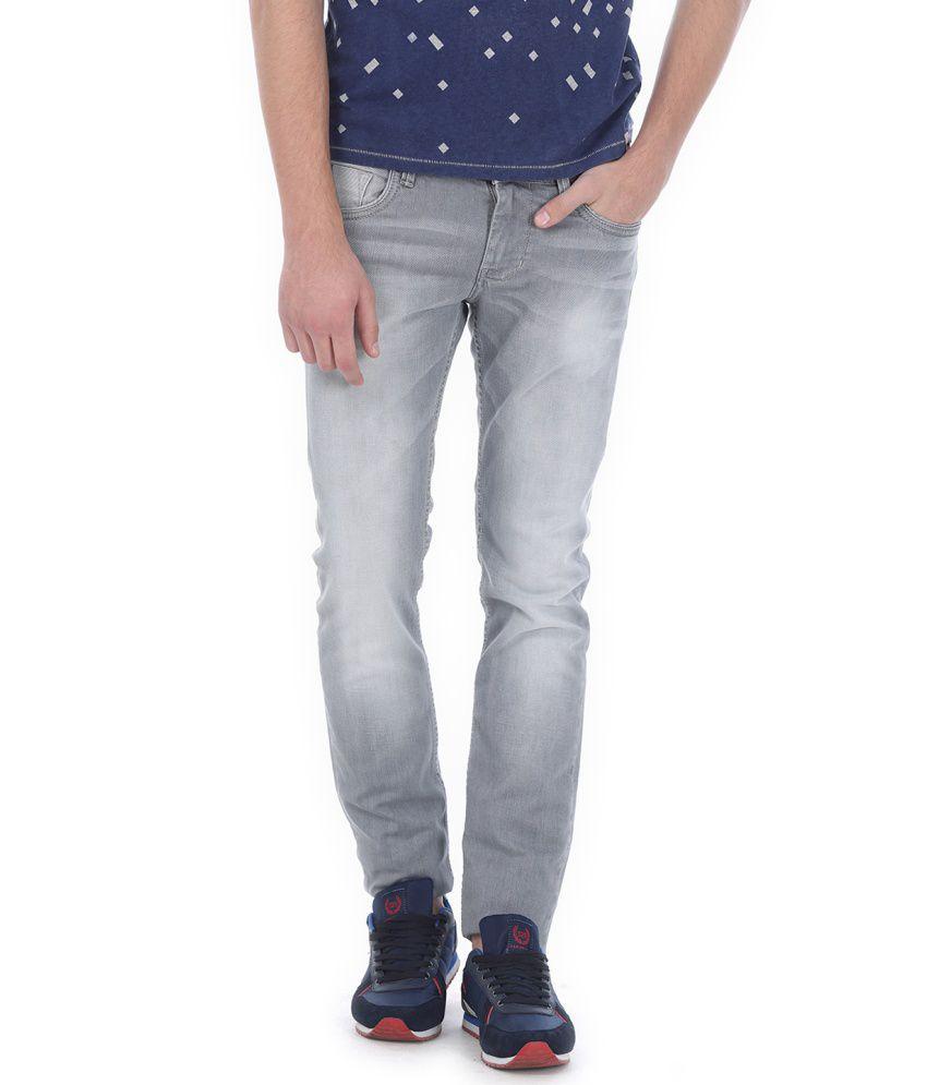 Basics Grey Blended Cotton Jeans