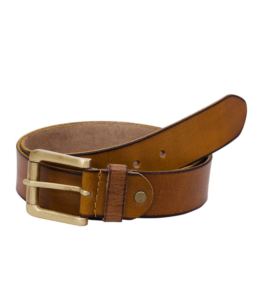 Hornbull Beige Formal Belt For Men