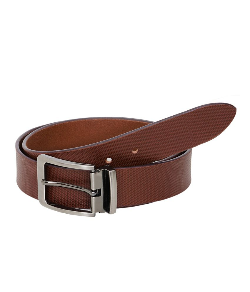 Hornbull Maroon Formal Belt For Men