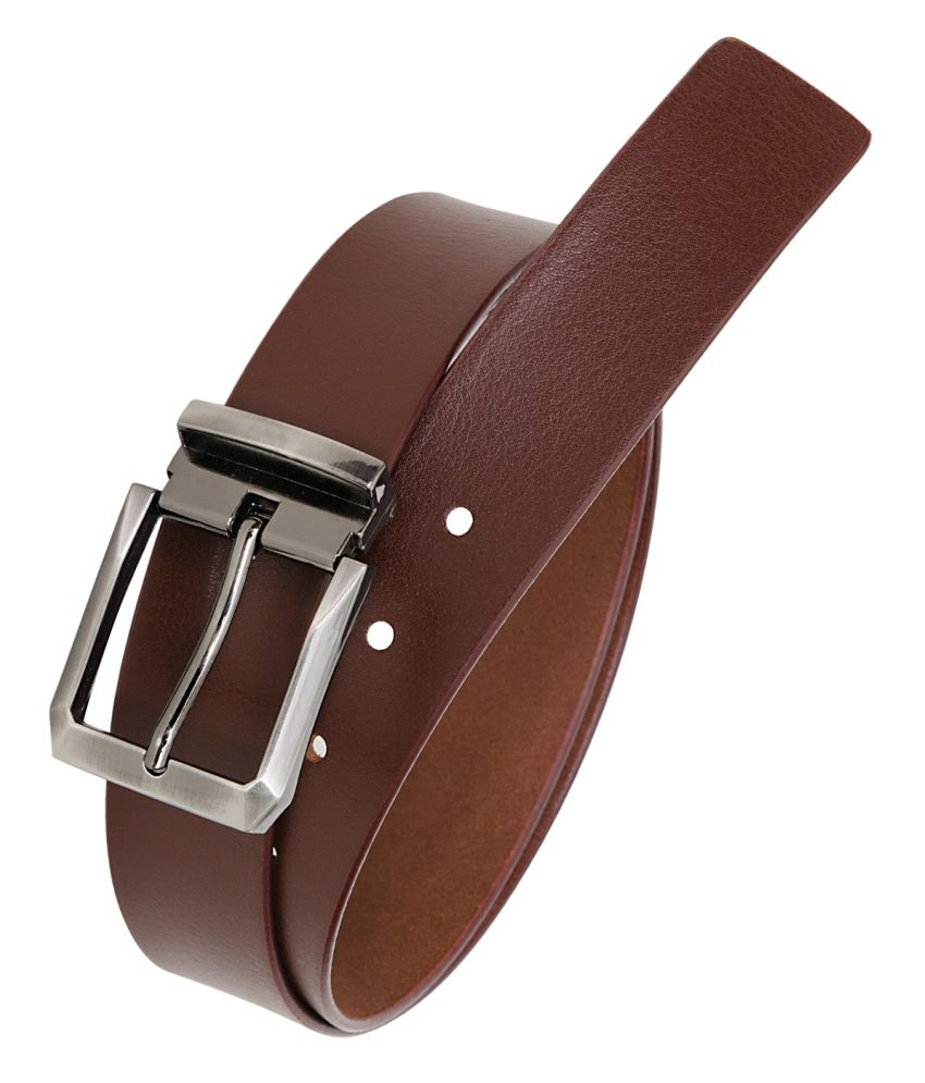 Hornbull Maroon Leather Formal Belts