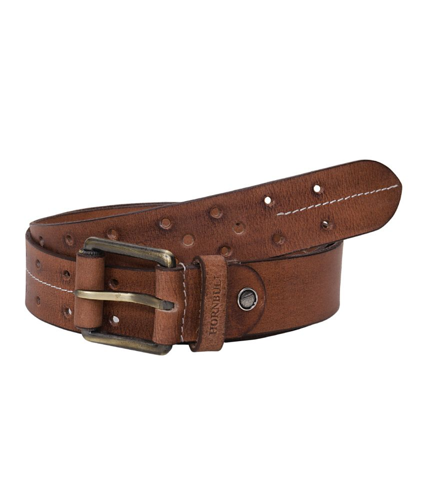Hornbull Tan Casual Belt For Men