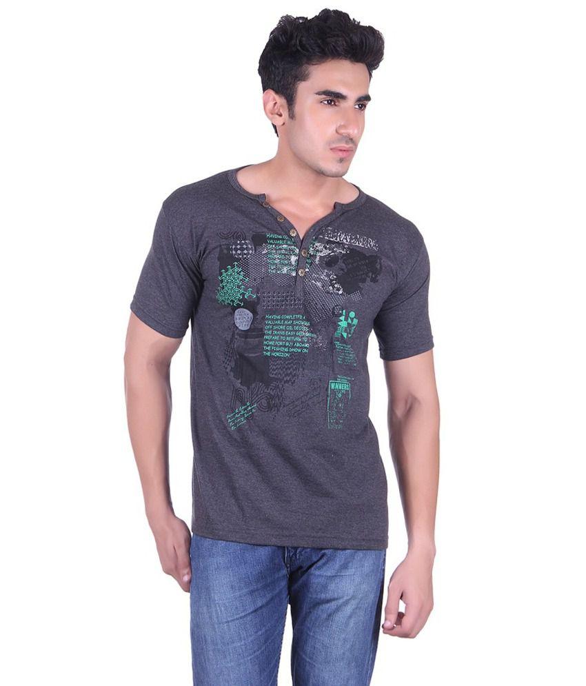 Lluminati Fashions Grey Cotton T-Shirt