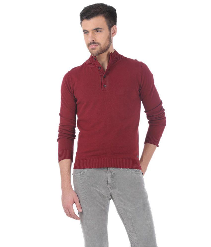 Basics Maroon Cotton T-shirt