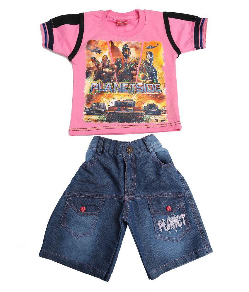 Sinchan Pack Of 2 T-Shirt And Shorts