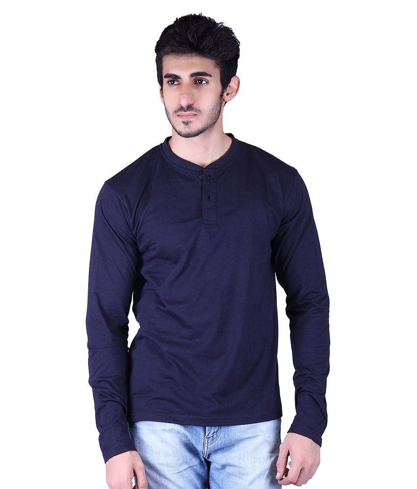 Vivid Bharti Navy Henley T-Shirt