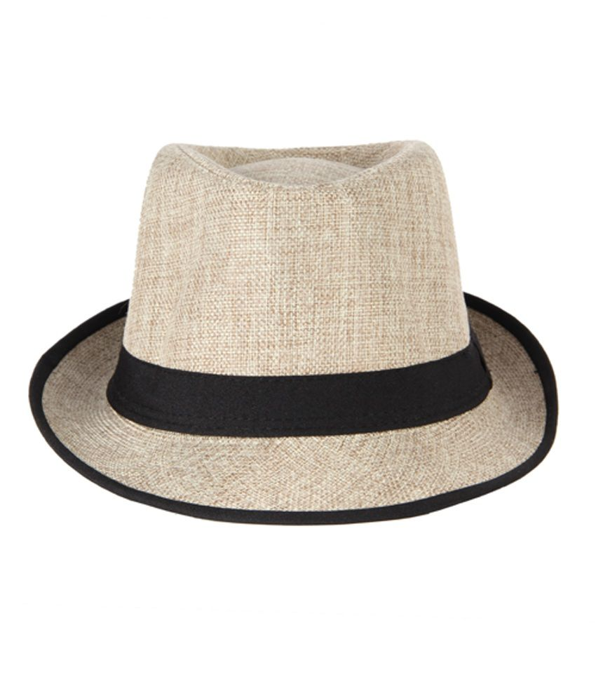 Crosscreek Beige Cotton Fidora Hat Men