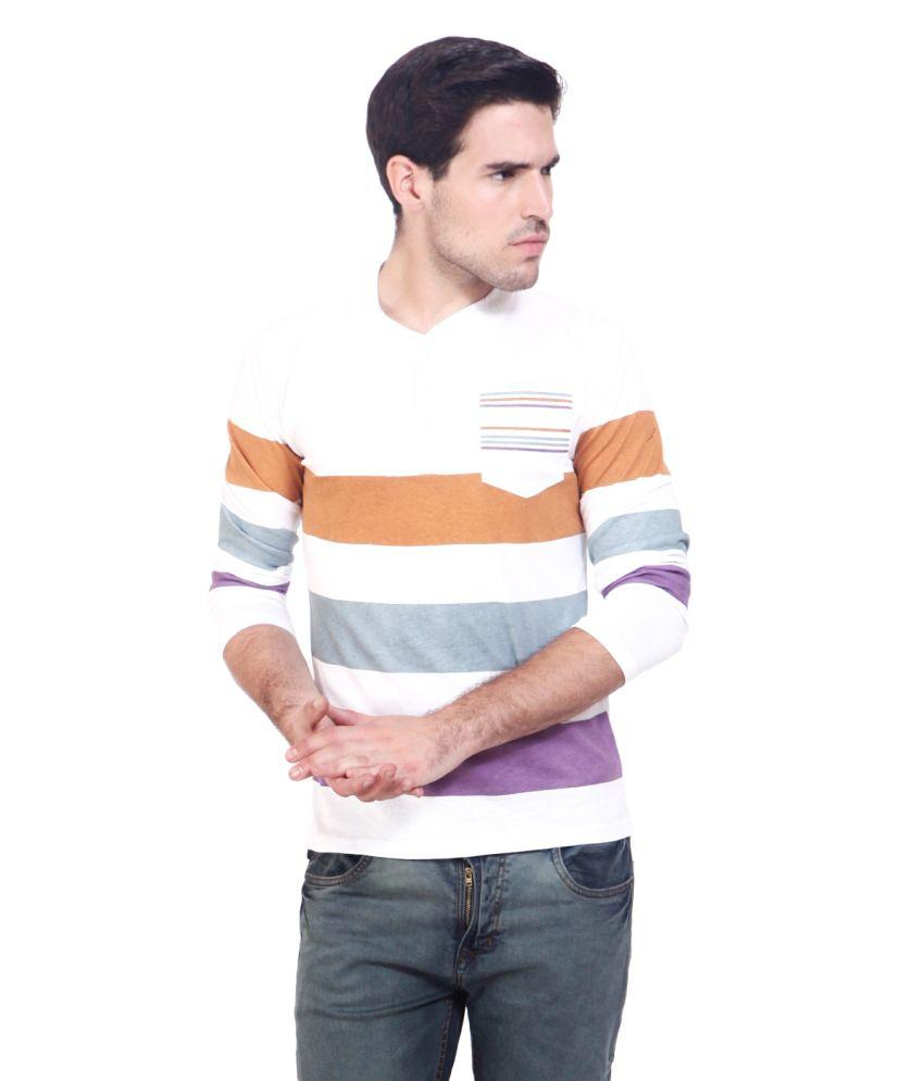Elaborado White Cotton Tshirt