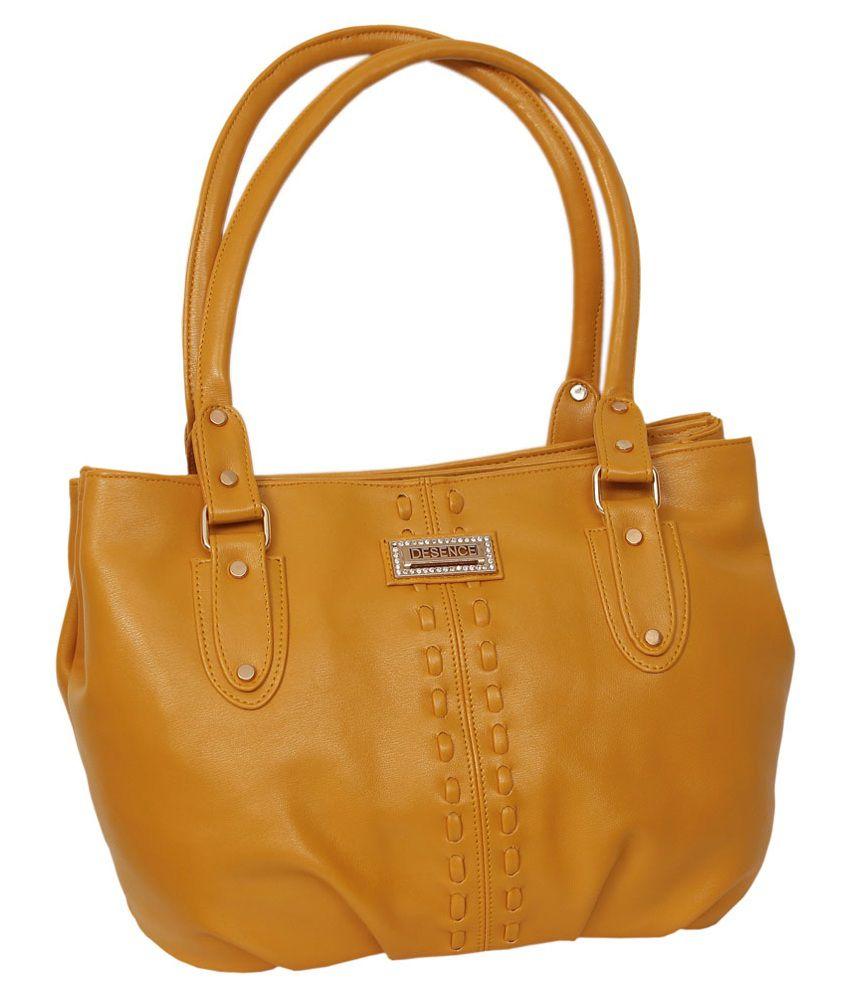 Greek Sojourn Yellow Shoulder Bag