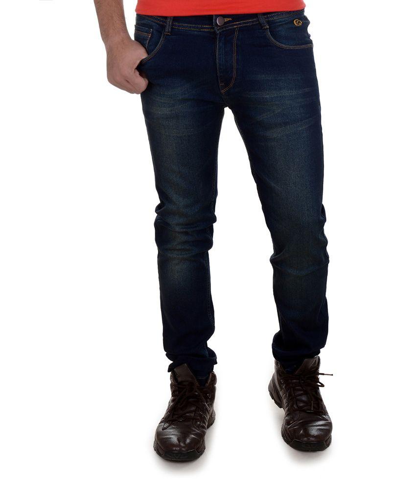 Jack N Jordan Blue Skinny Fit Jeans