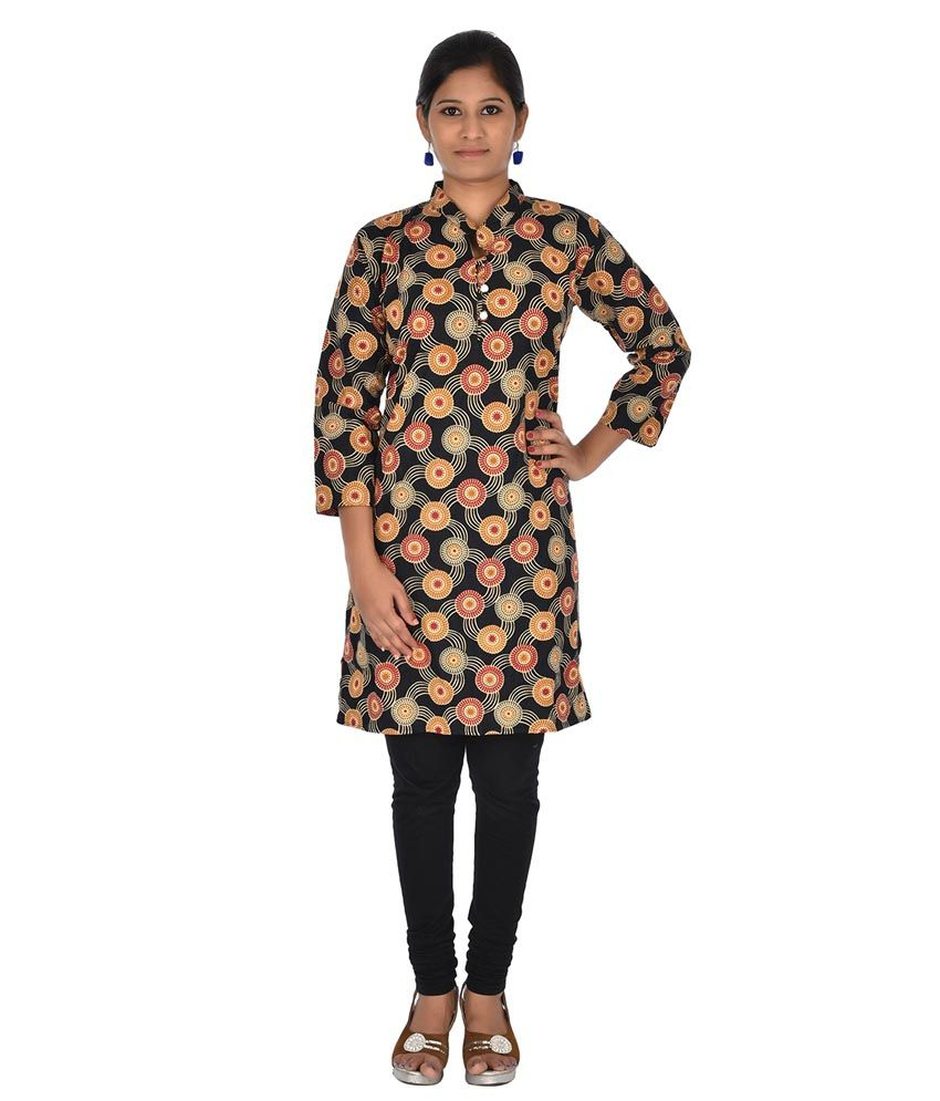 Maa Collection Black Cotton Kurti
