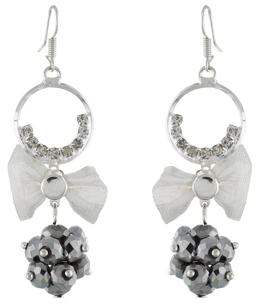 Osf Silver Alloy Hanging Earring