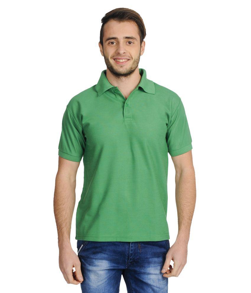 Stardum green half sleeves polo t shirt buy stardum for Full sleeve polo t shirts