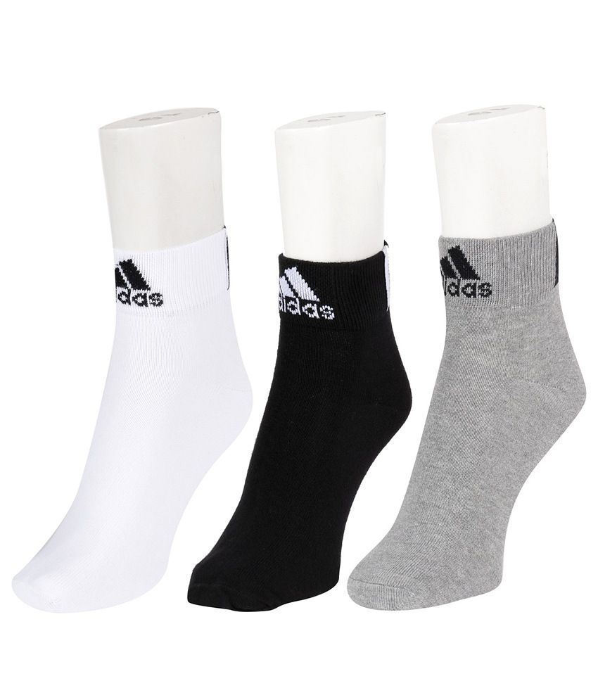 2aeea510778 Adidas Men's Flat Knit Ankle Socks - Pack of 3 Pairs