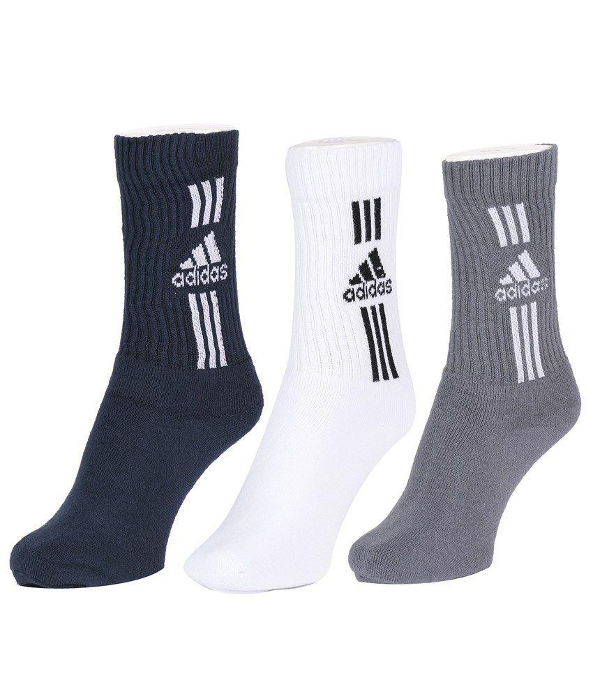 Adidas Men's Full Cushion Crew Socks - Pack of 3 Pairs