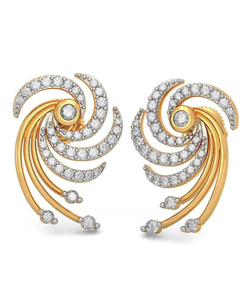 Bluestone 18kt Gold Diamond Dhiya Earrings