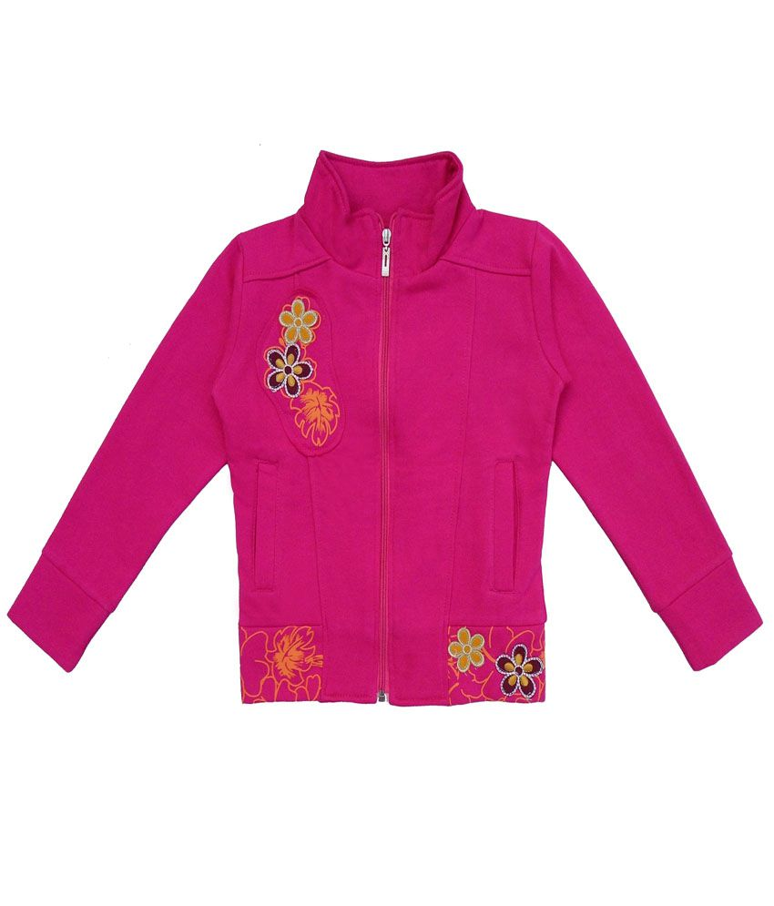 Sweet Angel Pink Color Zipper Sweatshirt For Kids