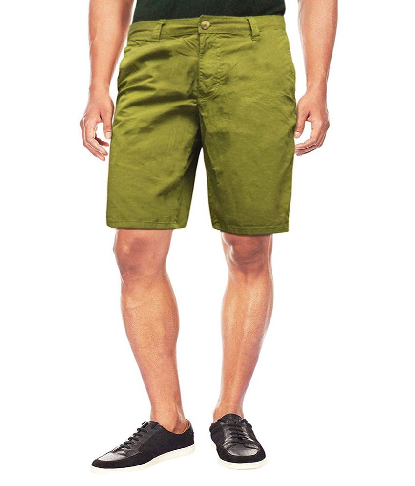 Kenneth Green Cotton Solid Shorts