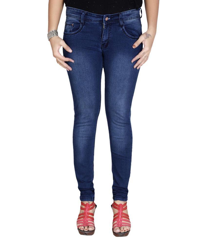 Shape Uup Blue Denim Lycra Jeans