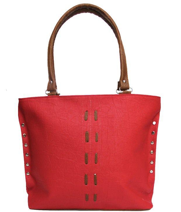 Bags Beautys Red P.U. Shoulder Bag
