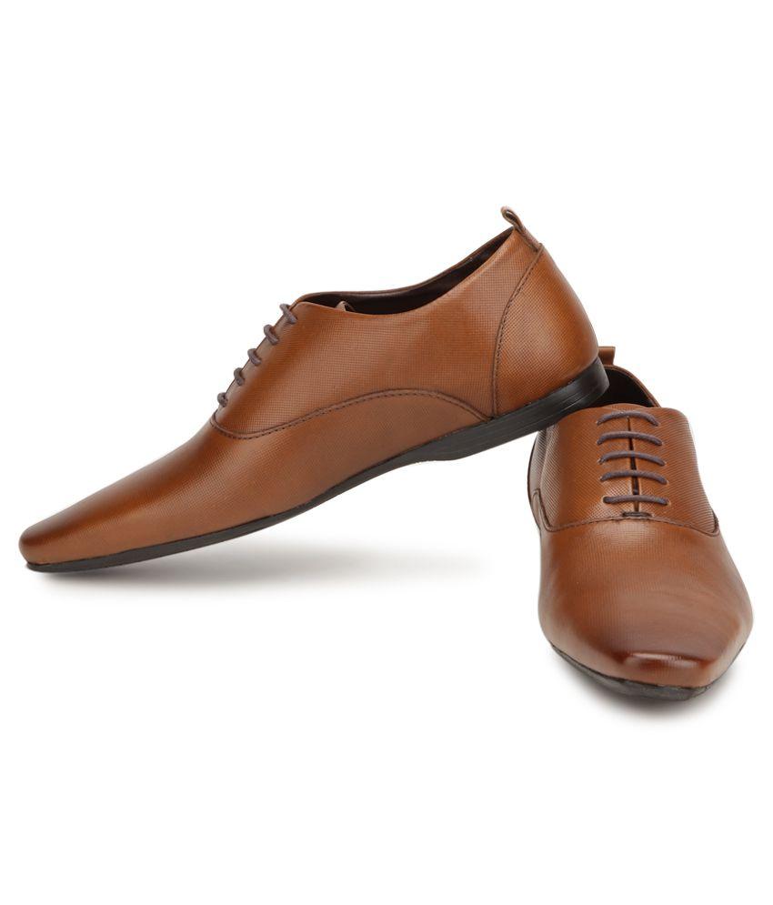 7606d93f4a0875 Franco Leone Brown Formal Shoes Price in India- Buy Franco Leone ...