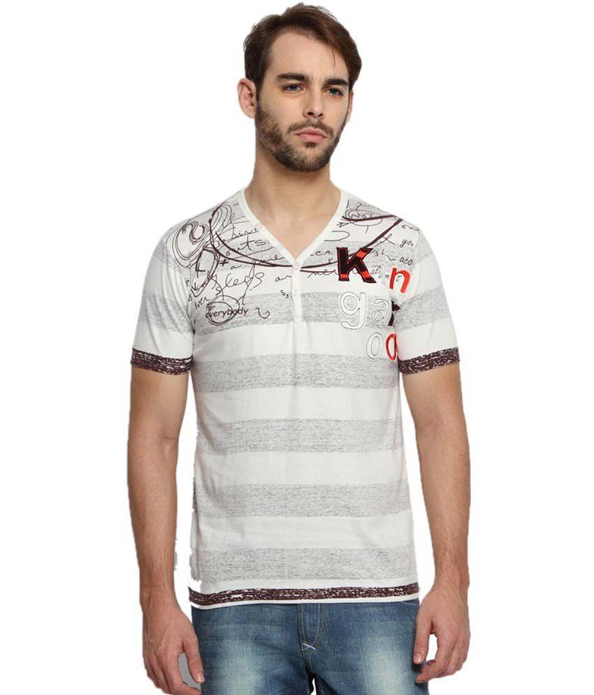 Kingaroo Striped Men's Henley T-Shirt