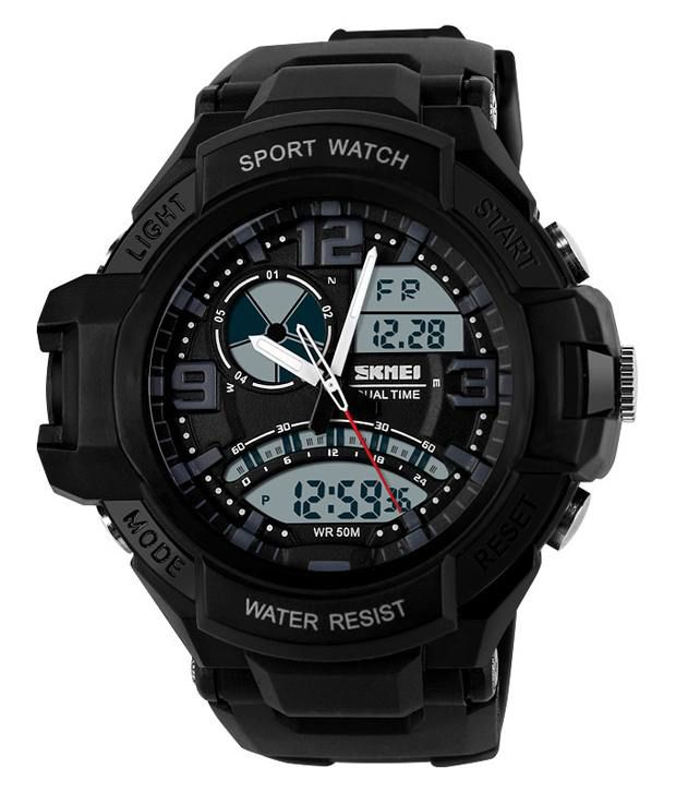 Skmei Black Dial Analog And Digital Casual Watch