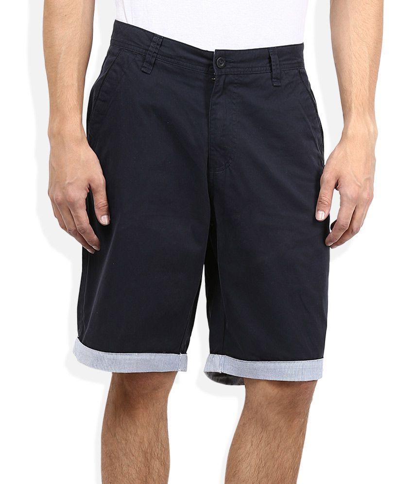 John Players Navy Shorts