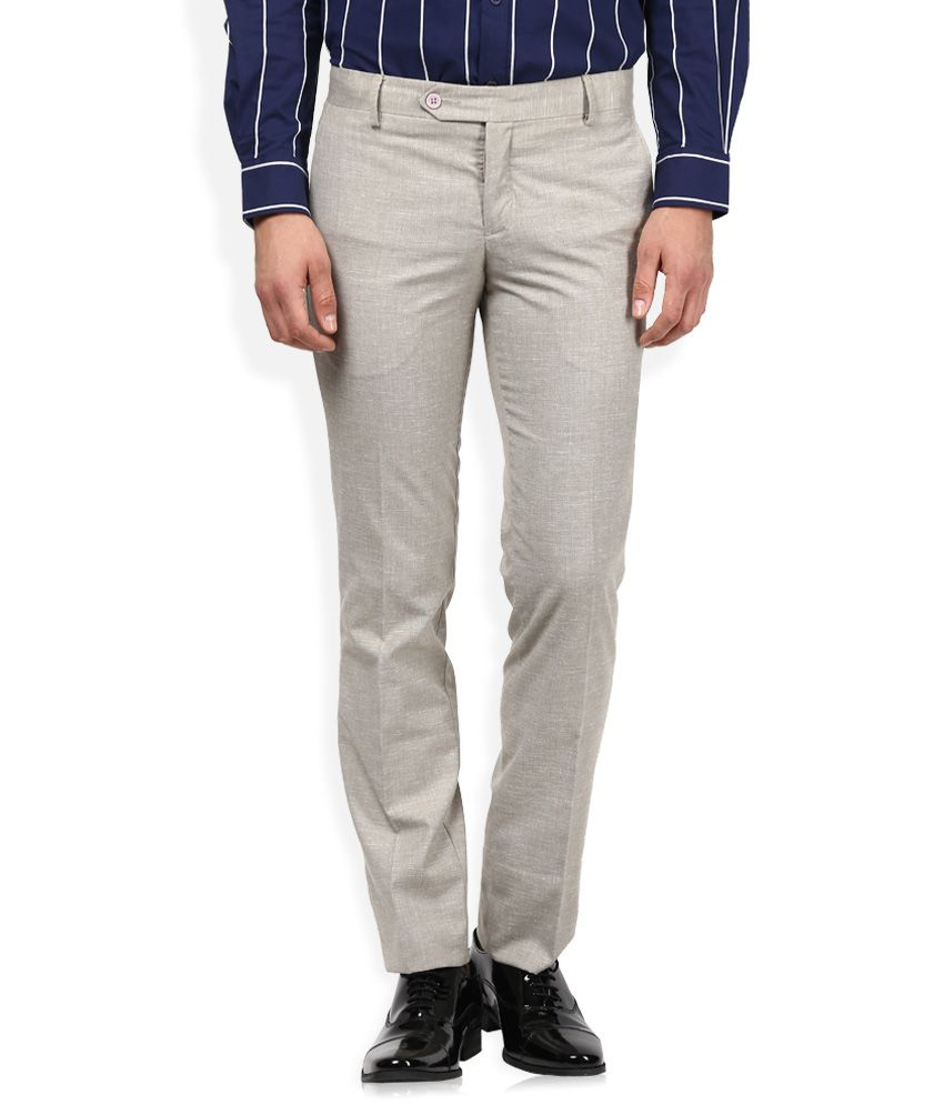 John Players Off-White Formal Trouser
