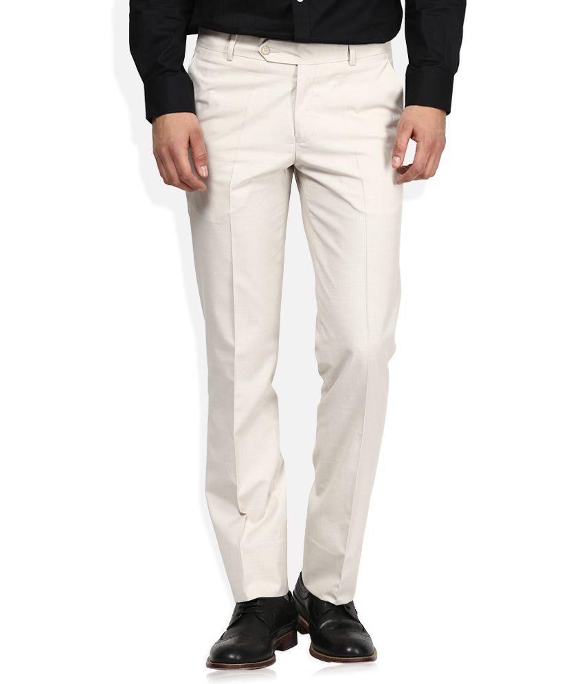 John Players White Formal Trouser