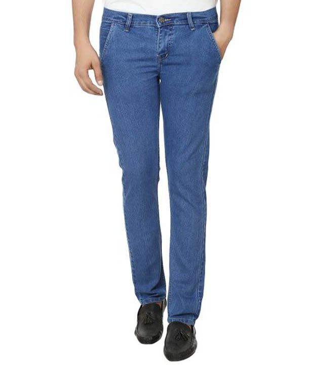 Printowndesign Blue Slim Fit Jeans