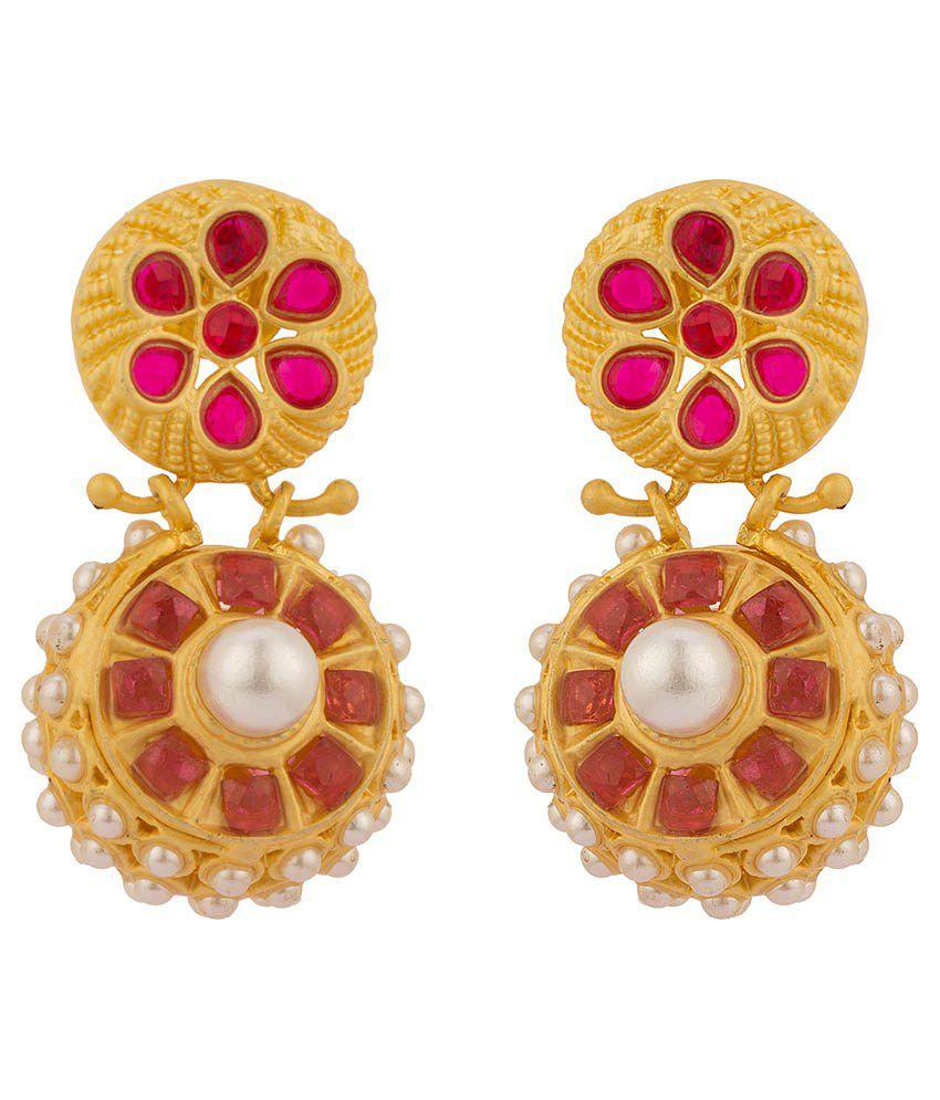 Rajwada Arts Gold Plated Circular Earringss
