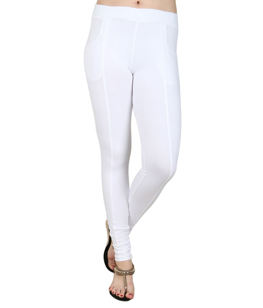 Baremoda White Cotton Lycra Jeggings