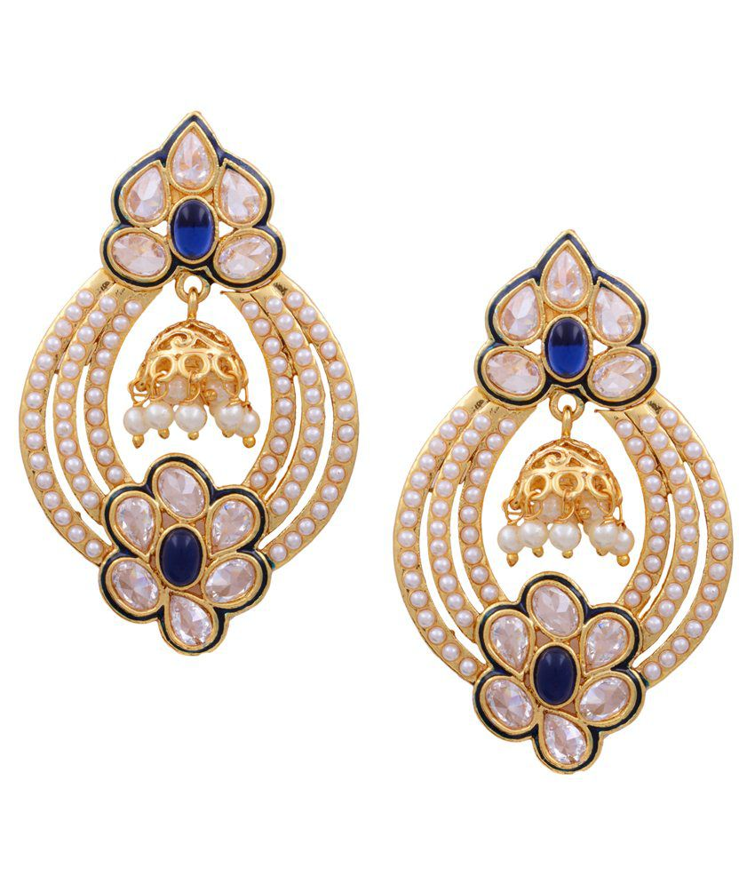 Pitti Jewels&Pearls Blue Copper Hanging Earring
