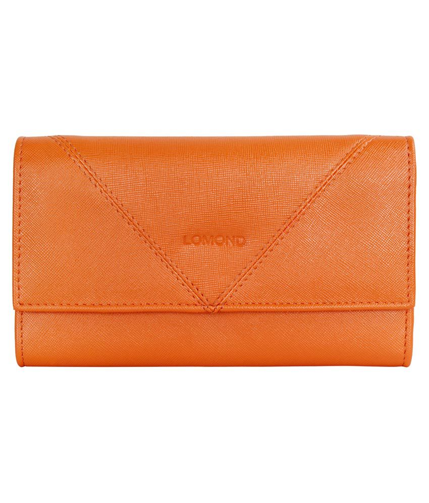 Lomond Orange Trifold Wallet