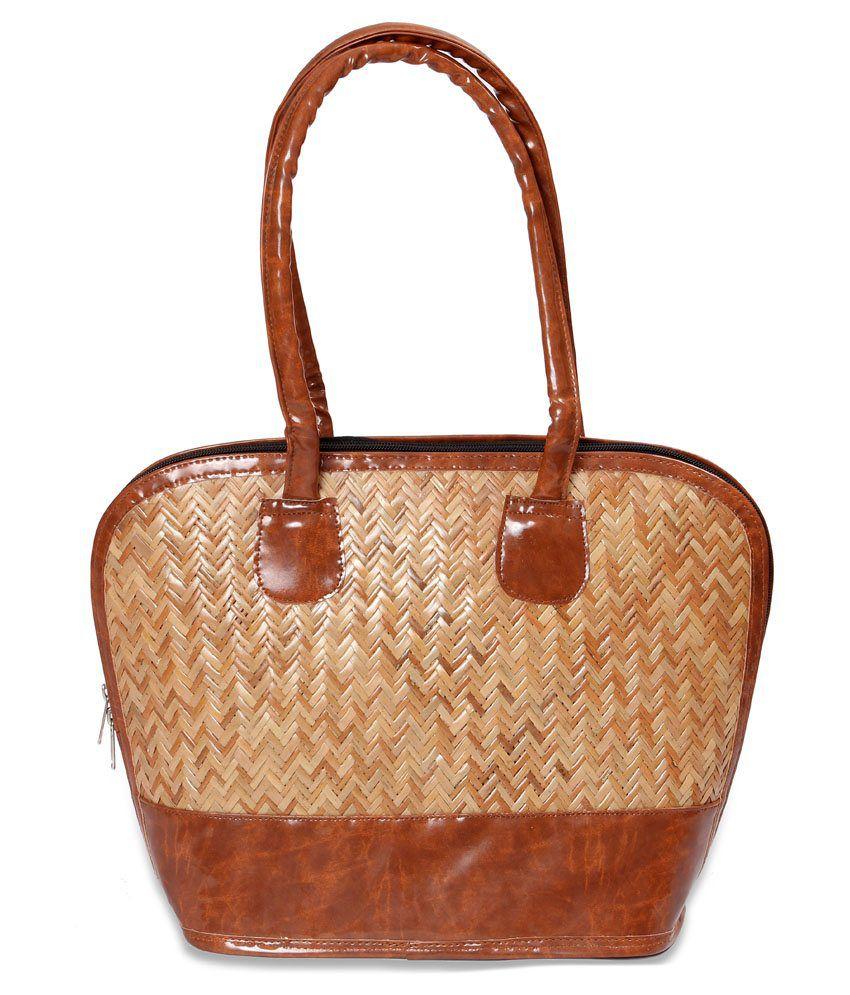 Chaitnya Handloom Beige Shoulder Bag