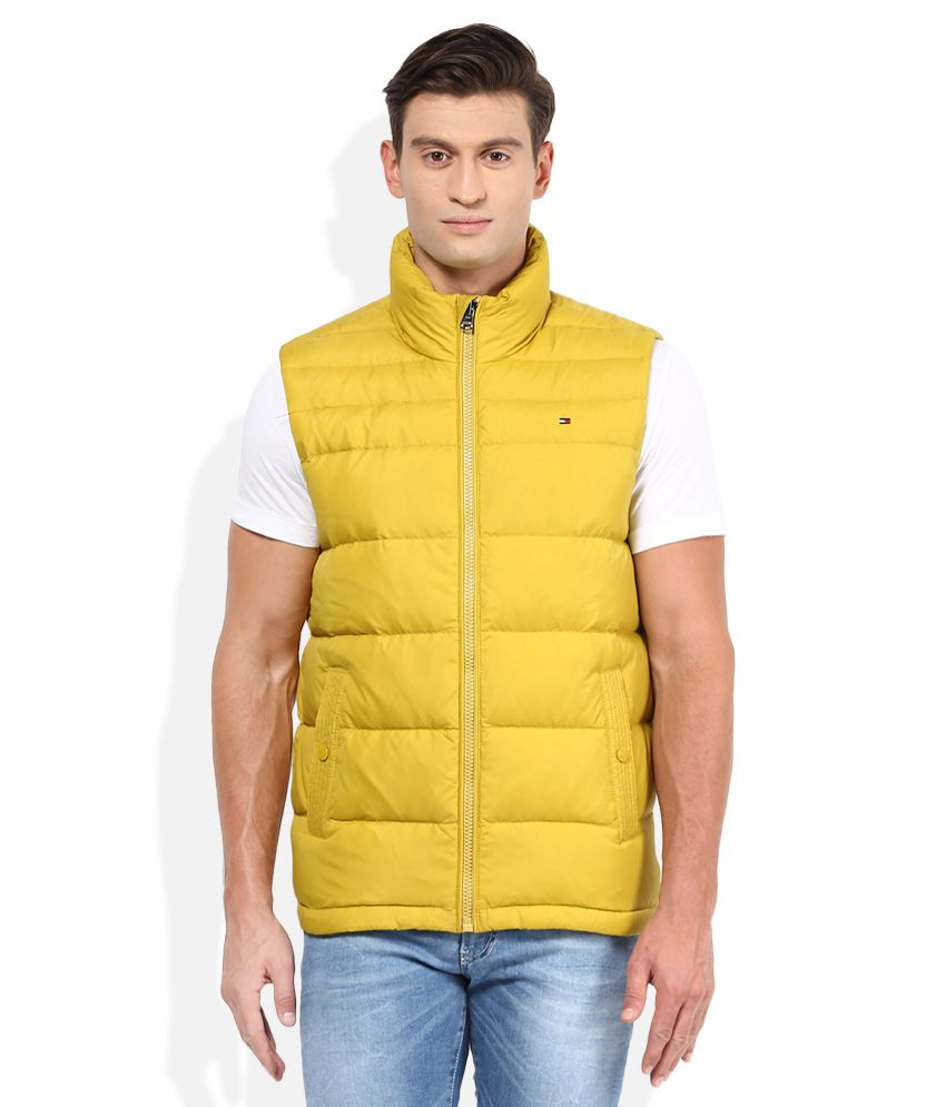 285c40b7 Tommy Hilfiger Yellow Solid Quilted Jacket - Buy Tommy Hilfiger Yellow  Solid Quilted Jacket Online at Best Prices in India on Snapdeal