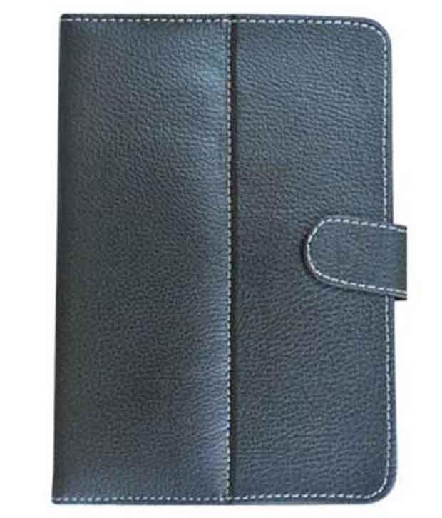 Tup Flip Flap Stand Case Cover For Prestigio 7inch Multipad 7.0 Prime Duo - Black