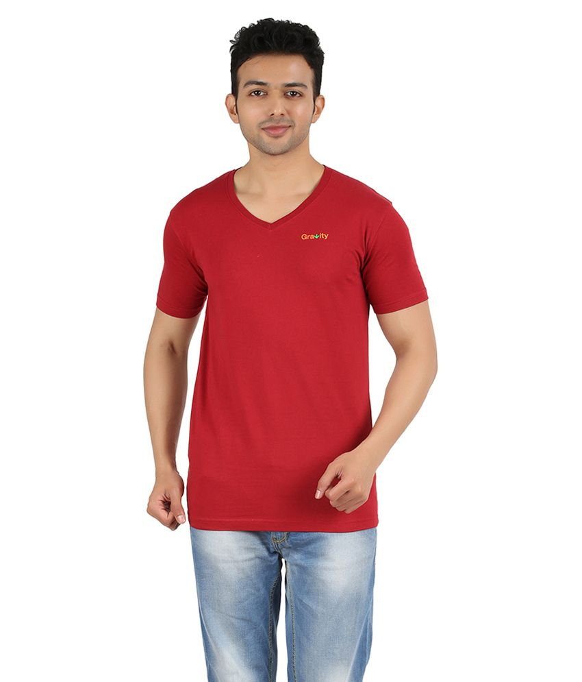 Gravity Plus Red Cotton T-Shirt