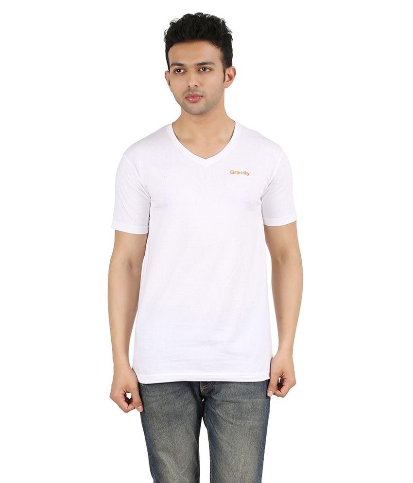 Gravity Plus White Cotton T-Shirt