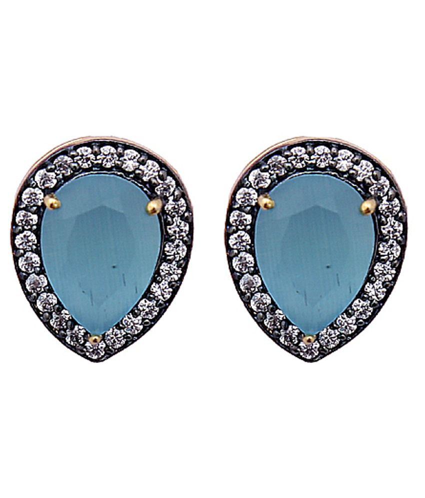 Madeinmyindia Blue Stud Earringss