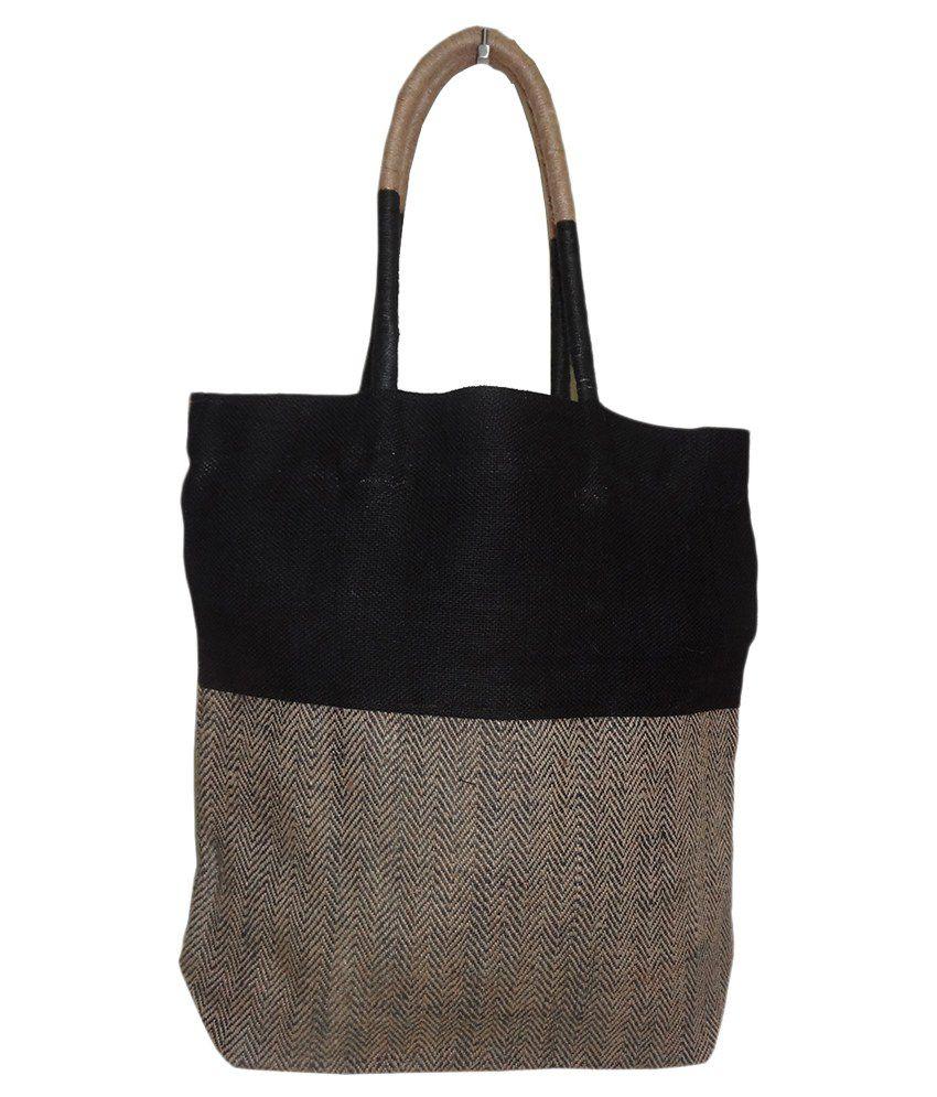 Richie Bag Black Jute Tote Bag