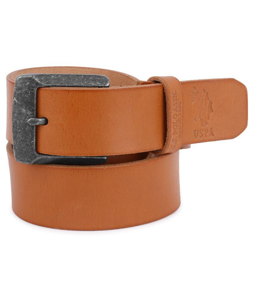 U.S. Polo Assn. Tan Casual Belt